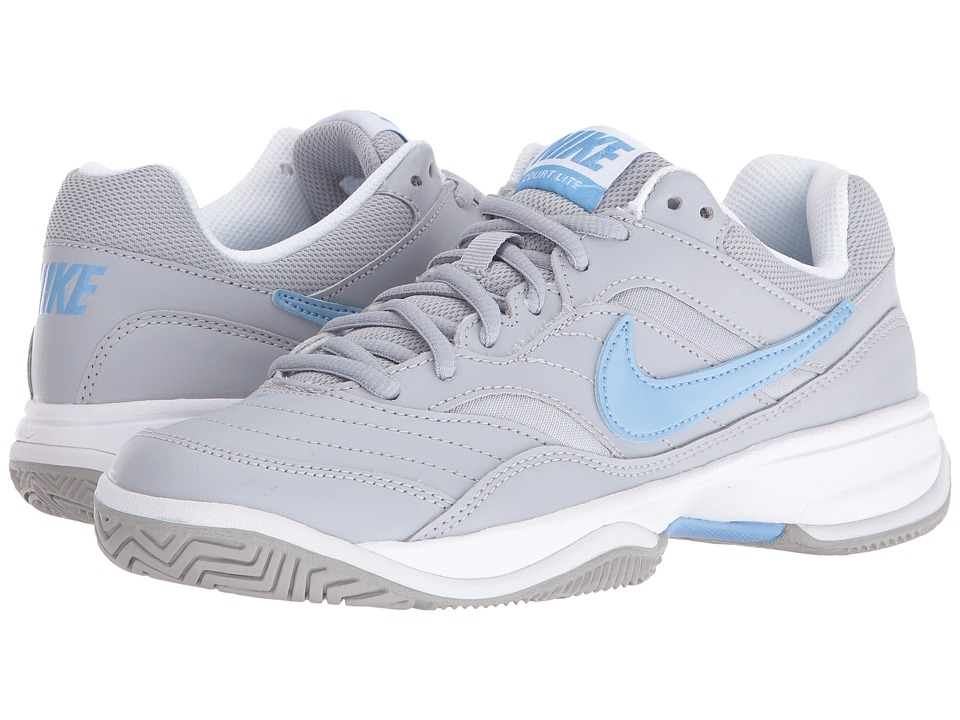 Nike - Court Lite (Wolf Grey/White/Light Blue) Women's Tennis Shoes