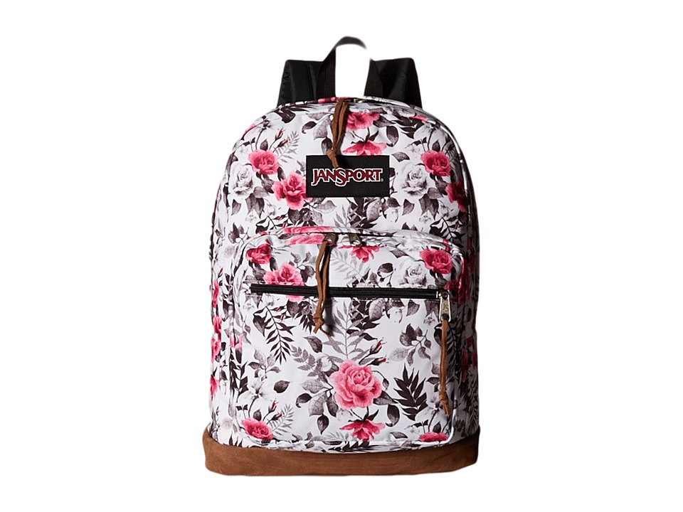 JanSport - Right Pack Expressions (Multi Black/White Graphic Floral) Backpack Bags