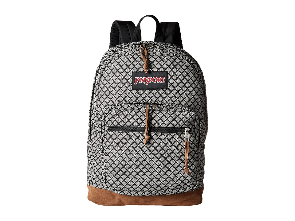 JanSport - Right Pack Expressions (Black/White Fish Scale Jacquard) Backpack Bags