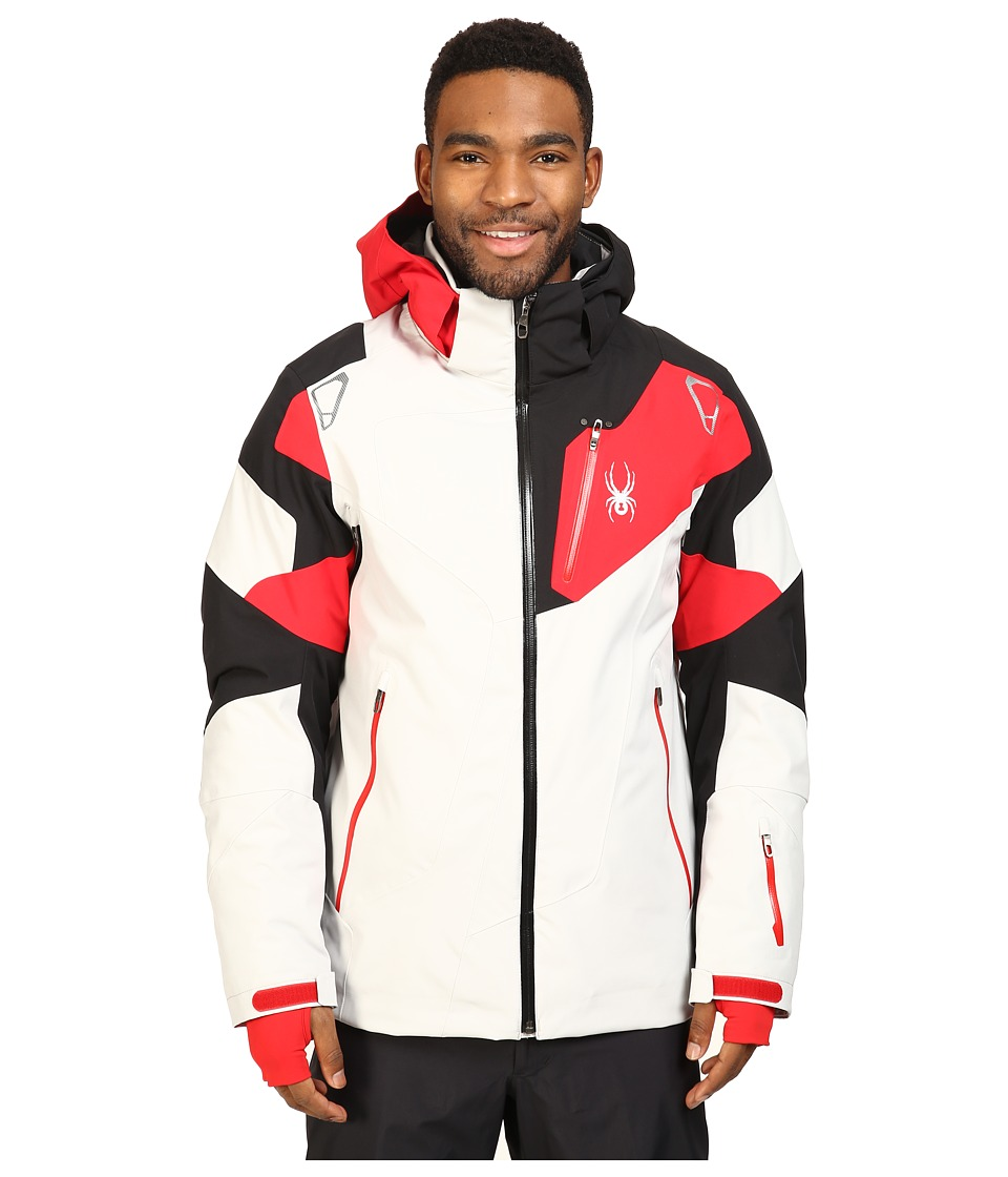 Spyder - Leader Jacket (Cirrus/Black/Red) Men's Jacket