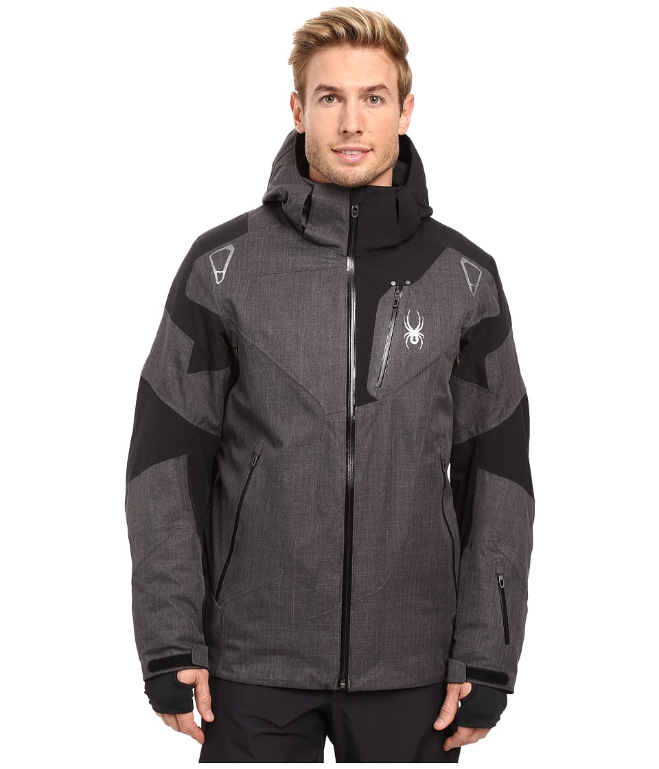 Spyder - Leader Jacket (Polar Crosshatch/Black/Polar Crosshatch) Men's Jacket
