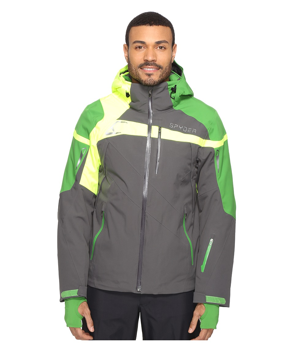 Spyder - Titan Jacket (Polar/Blade/Bryte Yellow) Men's Coat