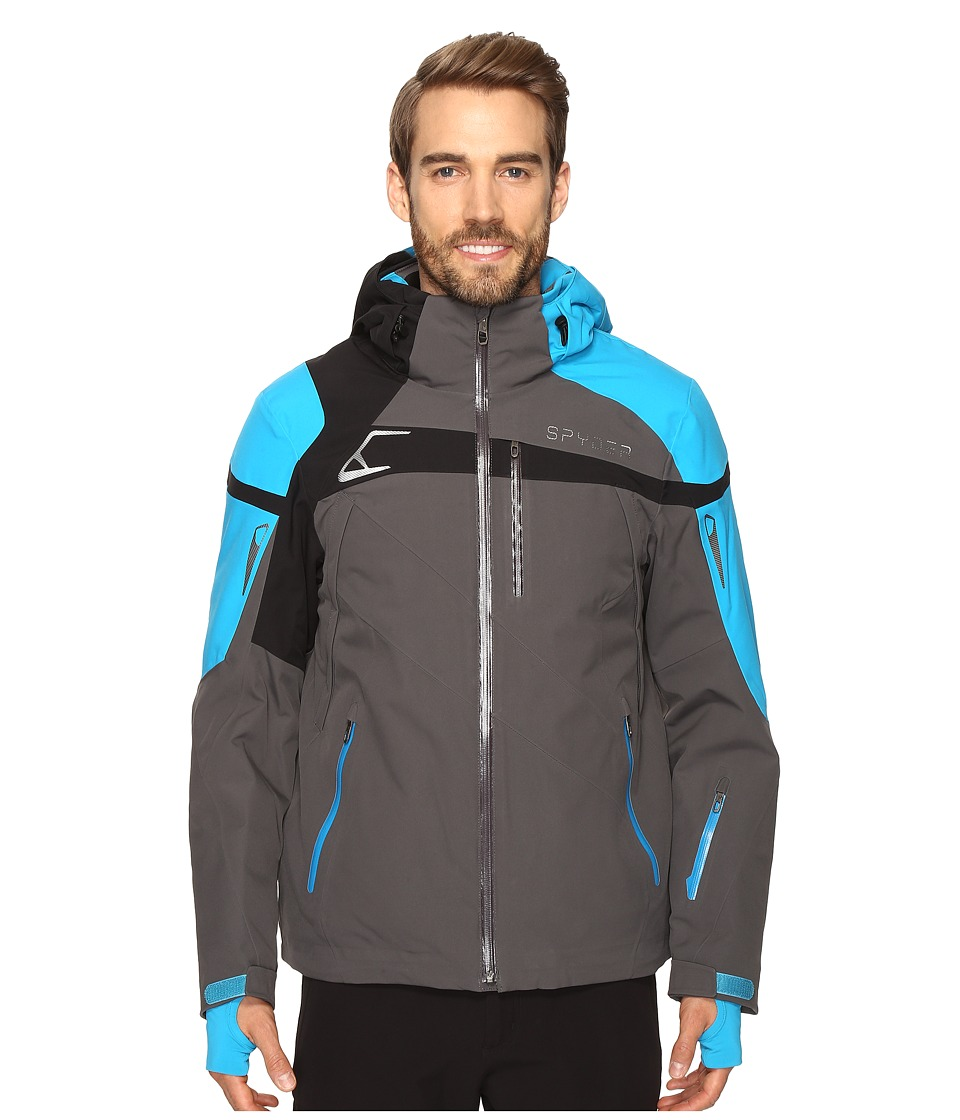 Spyder - Titan Jacket (Polar/Electric Blue/Black) Men's Coat
