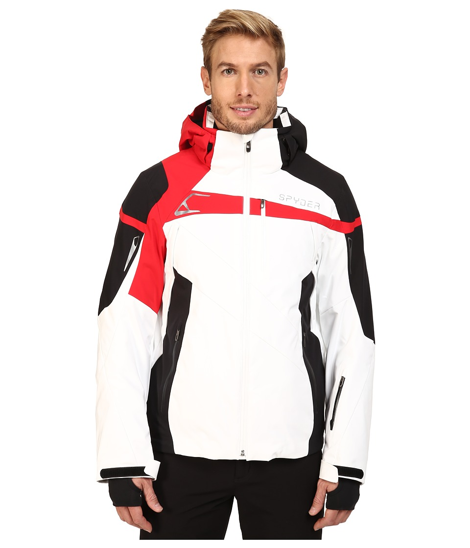 Spyder - Titan Jacket (White/Black/Red) Men's Coat