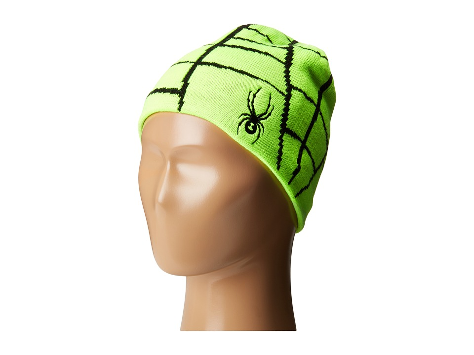 Spyder Kids - Mini Web Hat (Toddler/Little Kids/Big Kids) (Bryte Green/Black) Beanies