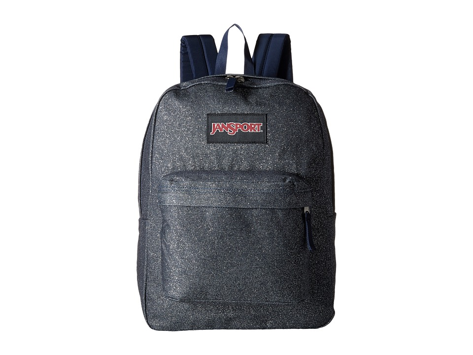 JanSport - Super FX (Silver Sparkle Twill) Backpack Bags