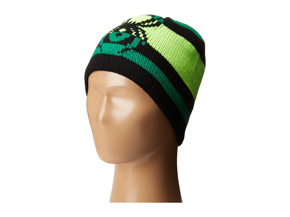 Spyder Kids - Mini Mission Hat (Toddler/Little Kids/Big Kids) (Black/Bryte Green/Jungle) Beanies