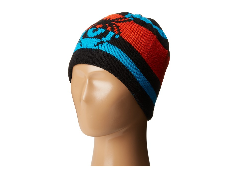 Spyder Kids - Mini Mission Hat (Toddler/Little Kids/Big Kids) (Black/Rage/Electric Blue) Beanies