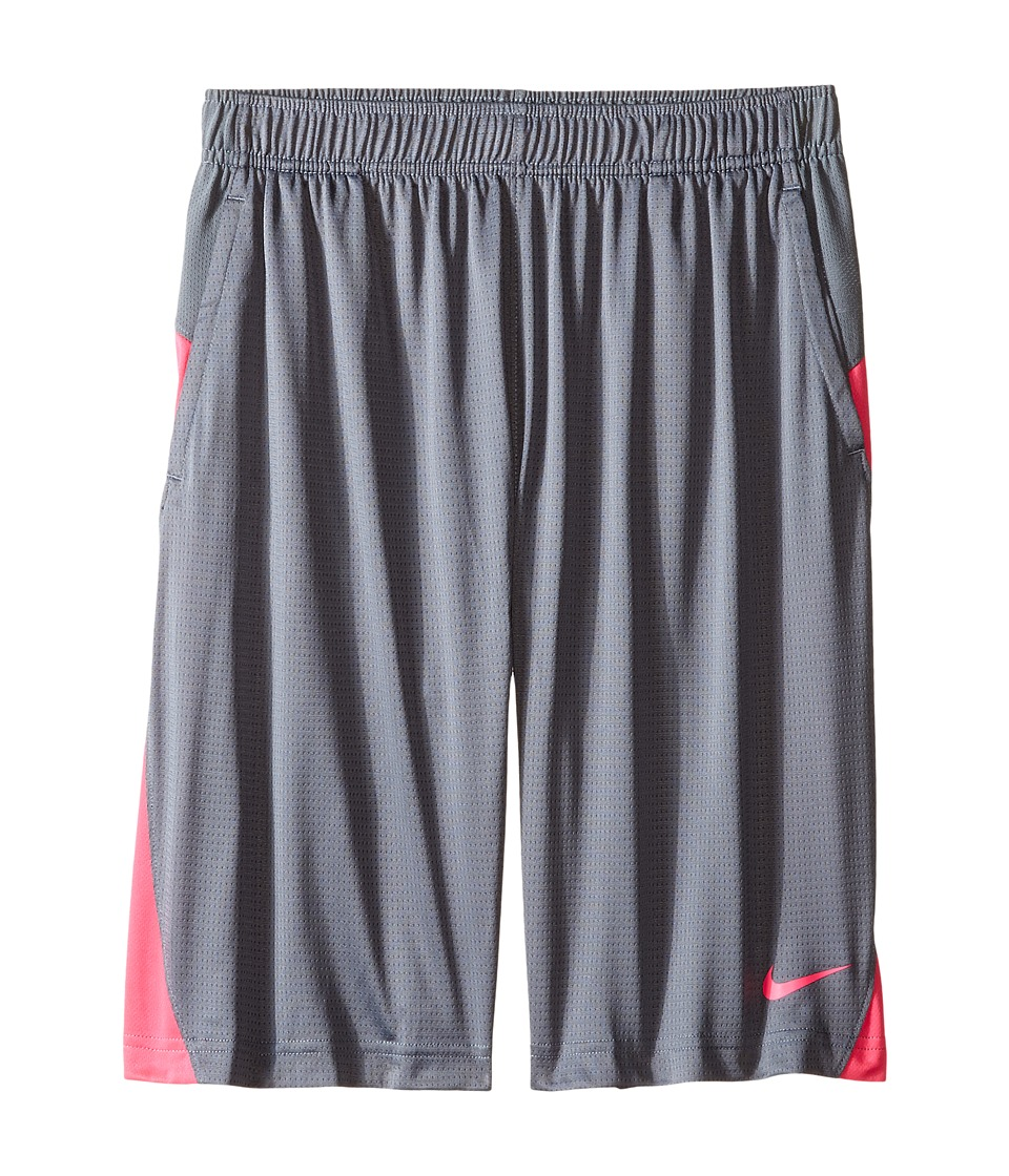 Nike Kids - Essential Short (Little Kid/Big Kid) (Cool Grey/Hyper Pink/Hyper Pink) Girl's Shorts