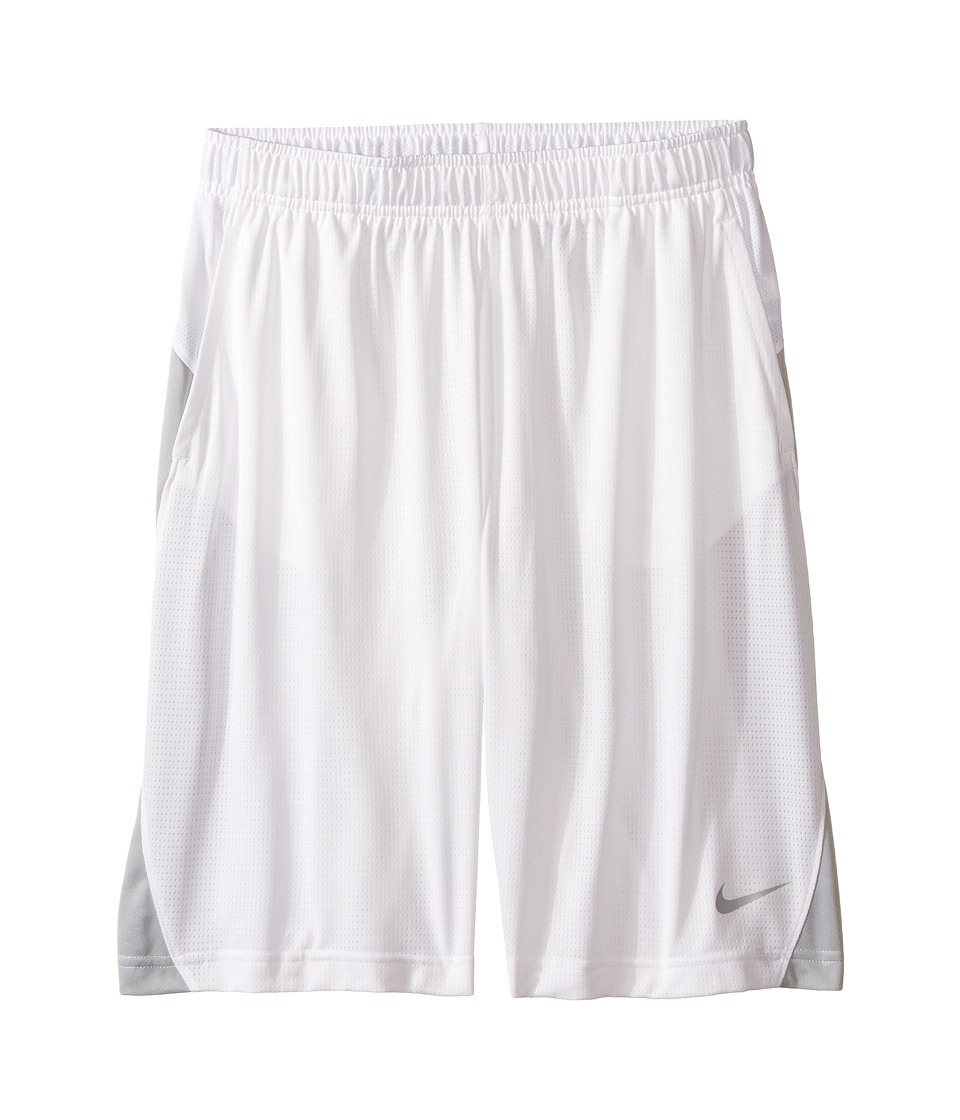 Nike Kids - Essential Short (Little Kid/Big Kid) (White/Wolf Grey/Wolf Grey) Girl's Shorts