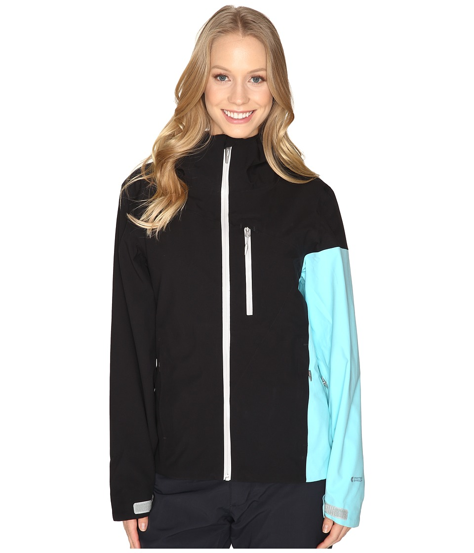Spyder - Jagged Shell Jacket (Black/Freeze) Women's Coat