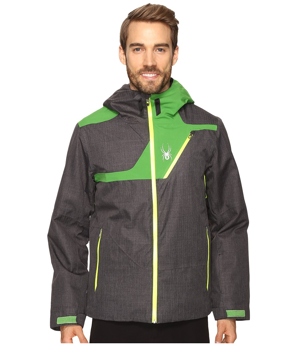 Spyder - Enforcer Jacket (Polar Crosshatch/Blade/Bryte Yellow) Men's Coat