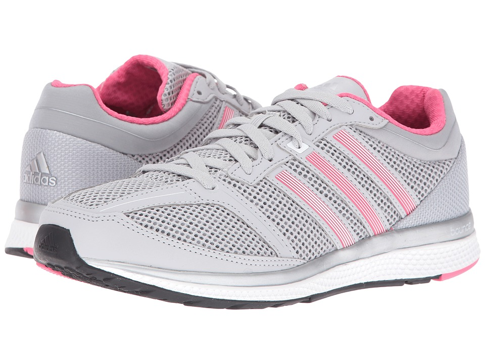 adidas Running - Mana RC Bounce (Light Grey Heather Solid Grey/Footwear White/Bahia Pink) Women's Shoes