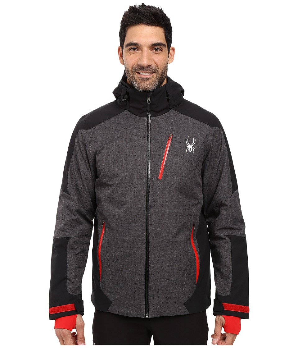 Spyder - Chambers Jacket (Polar Crosshatch/Black/Red) Men's Coat