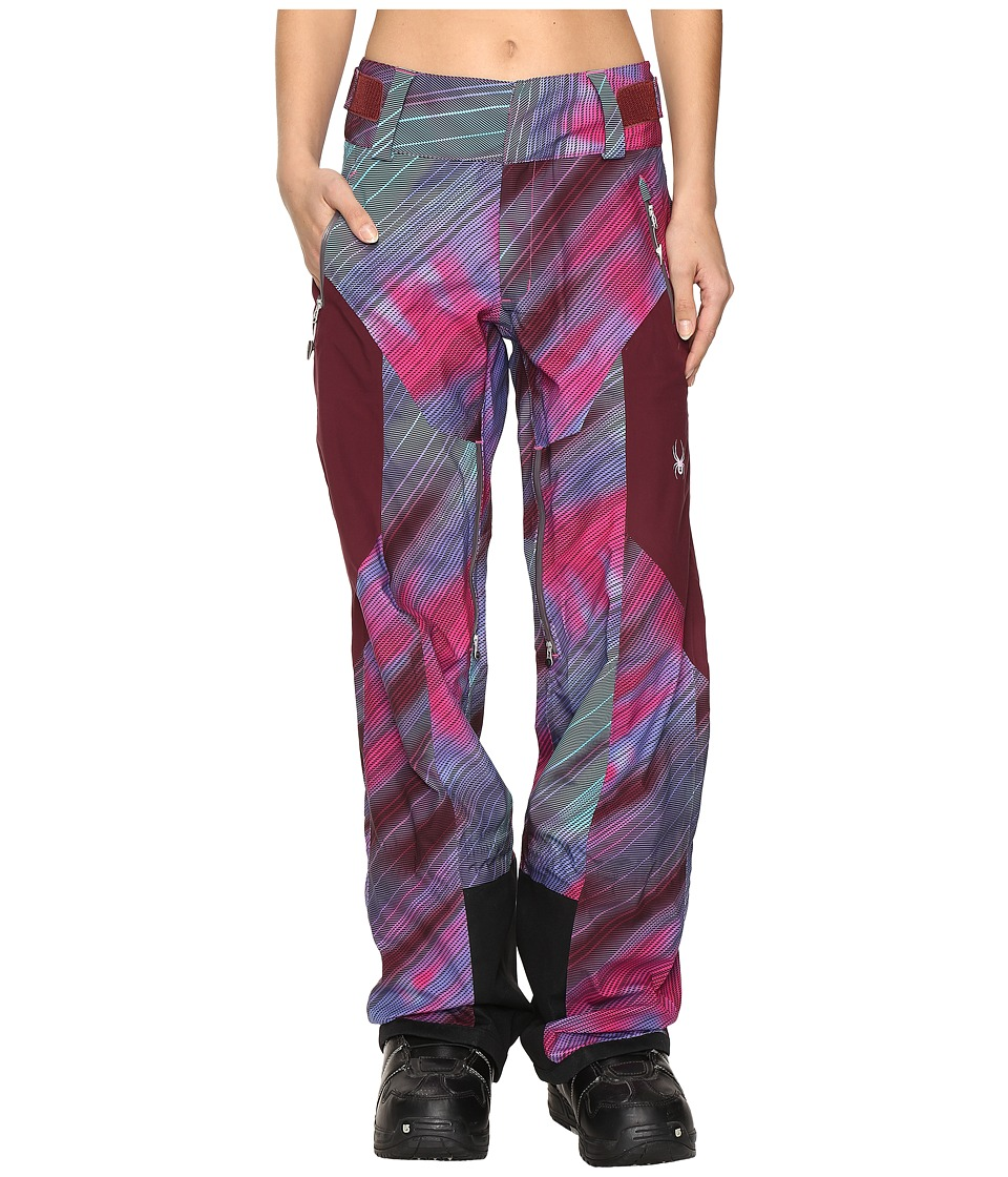 Spyder - Turret Shell Pants (Geo Rays Voila/Fini) Women's Outerwear