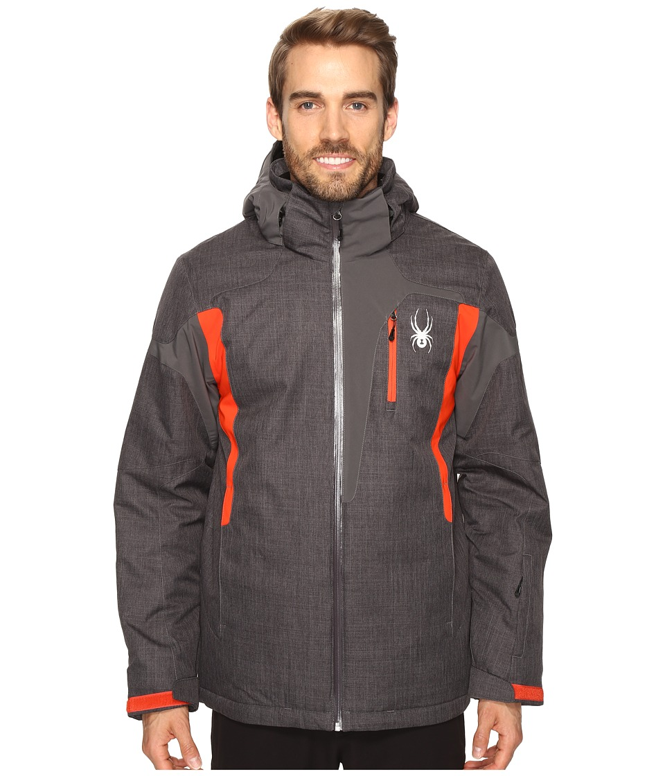 Spyder - Cannon Jacket (Polar Crosshatch/Polar/Rage) Men's Jacket