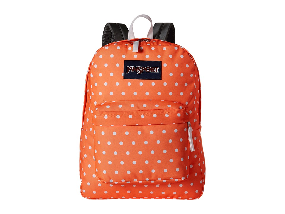 JanSport - SuperBreak (Tahitian Orange/White Dots) Backpack Bags