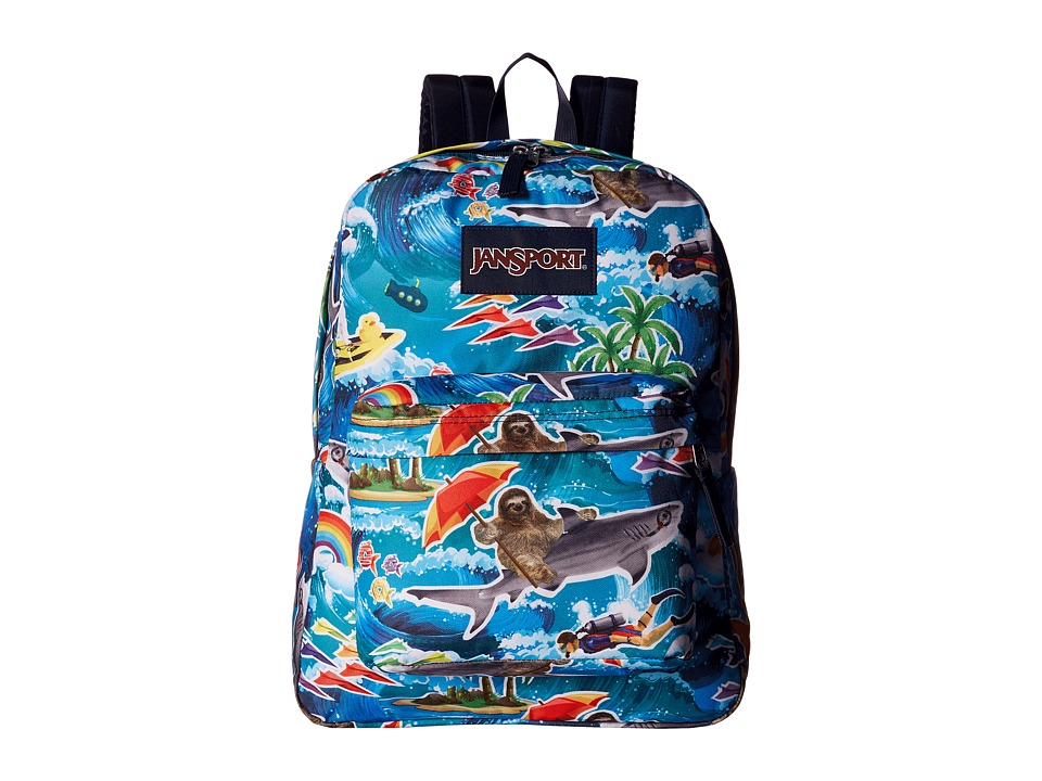 JanSport - SuperBreak (Multi Wet Sloth) Backpack Bags