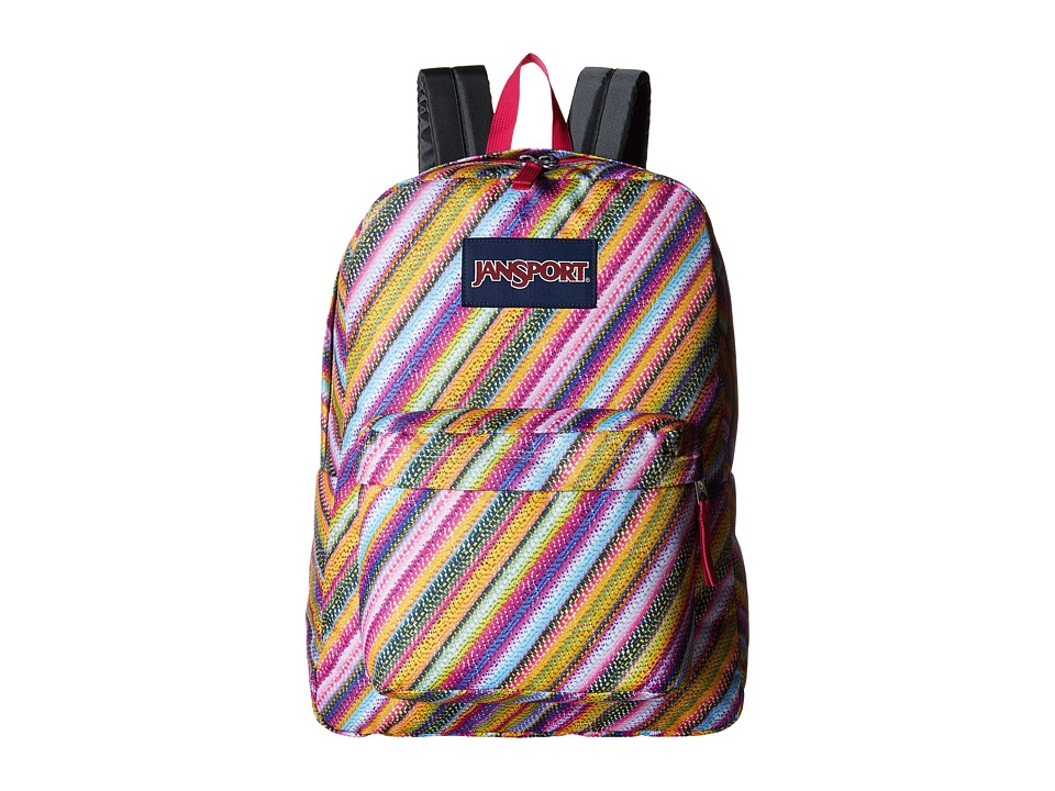 JanSport - SuperBreak (Multi Texture Stripe) Backpack Bags