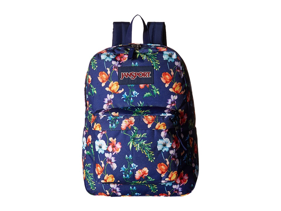 JanSport - SuperBreak (Multi Navy Mountain Meadow) Backpack Bags