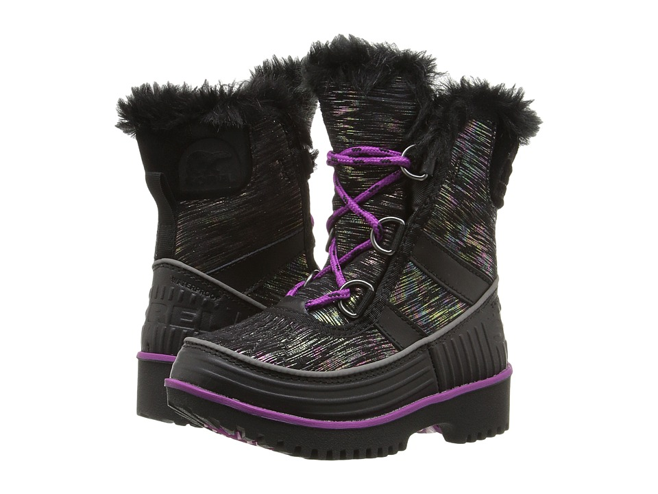 SOREL Kids - Tivoli II (Toddler/Little Kid) (Black/Bright Plum) Girl's Shoes