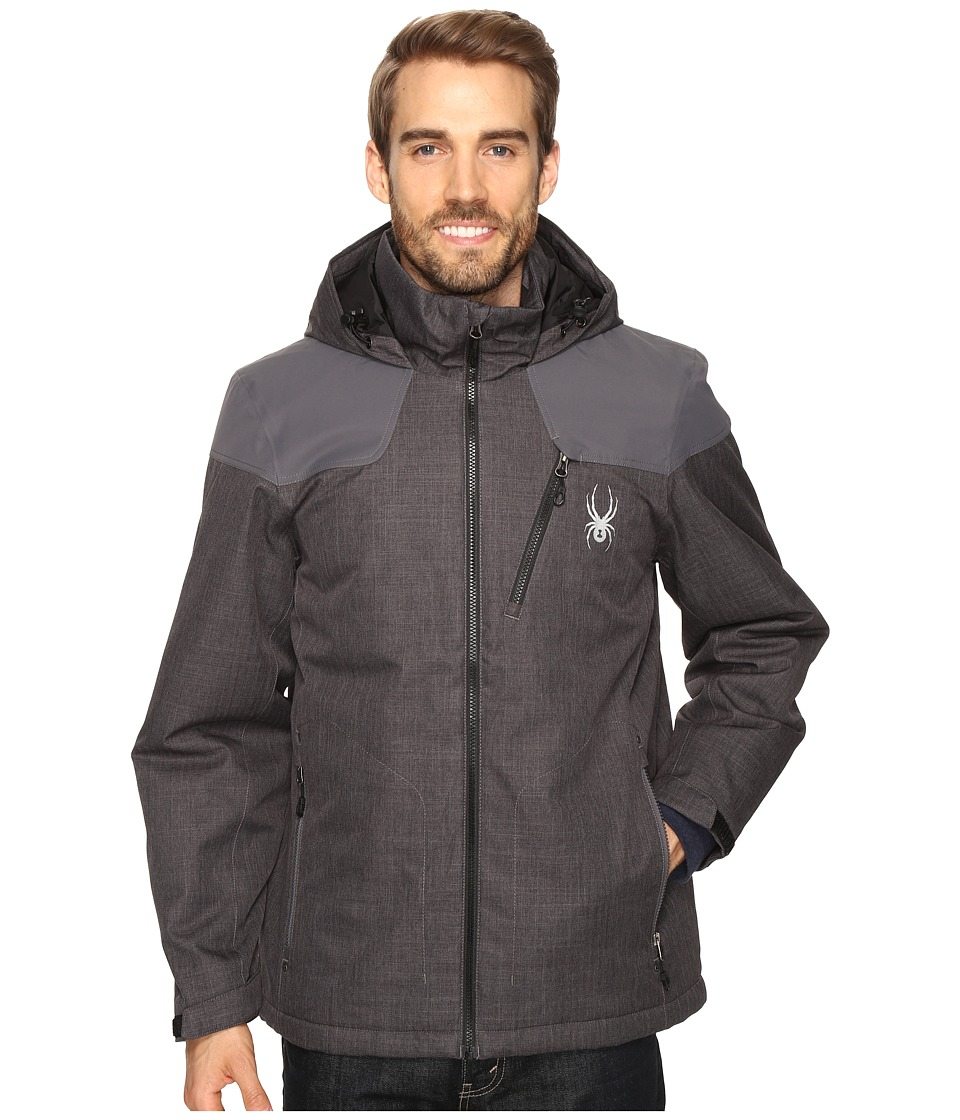 Spyder - Vyrse Jacket (Polar Crosshatch/Polar/Black) Men's Jacket