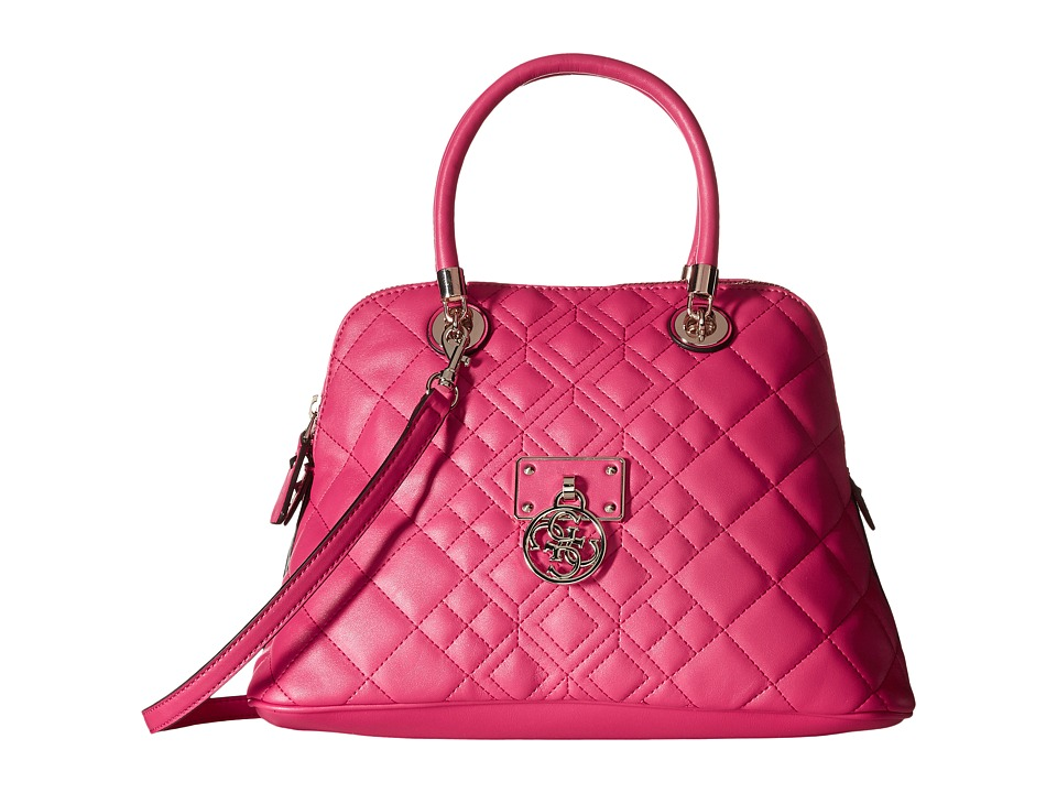 GUESS - Aliza Dome Satchel (Flamingo) Satchel Handbags