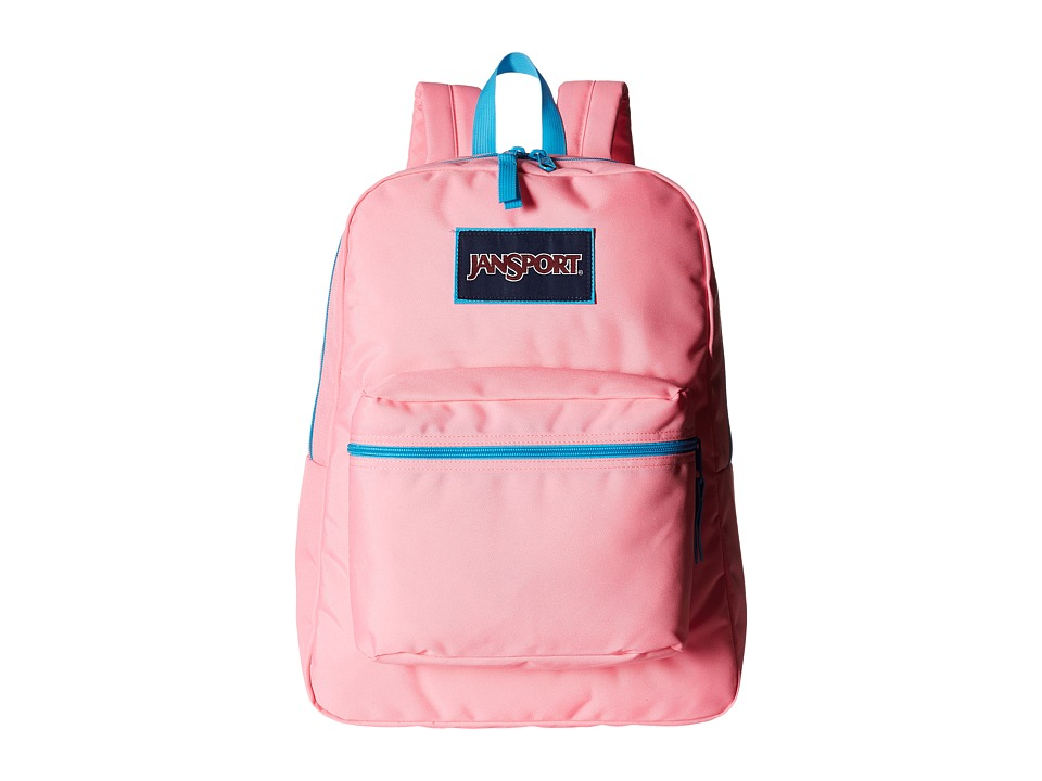 JanSport - Overexposed (Pink Pansy/Mammoth Blue) Backpack Bags