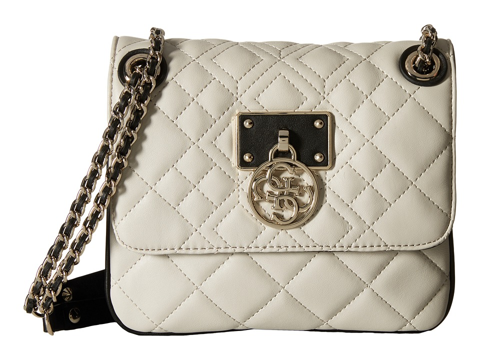 GUESS - Aliza Convertible Crossbody Flap (Almond Multi) Cross Body Handbags