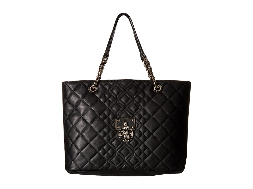 GUESS - Aliza Medium Tote (Black) Tote Handbags