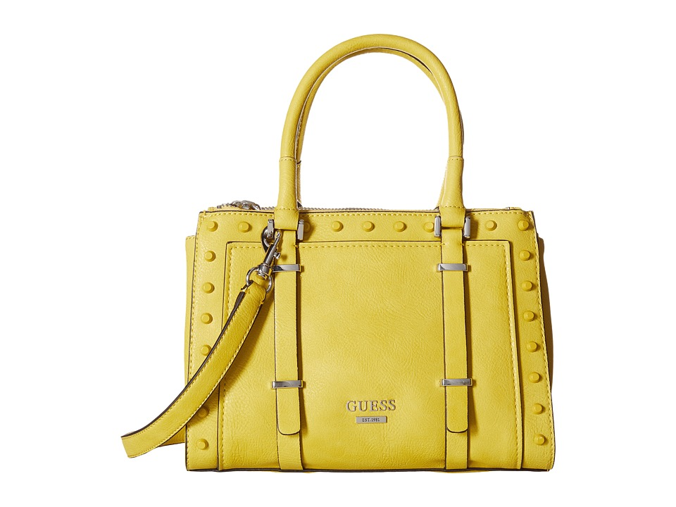 GUESS - Basel Small Status (Citron) Handbags