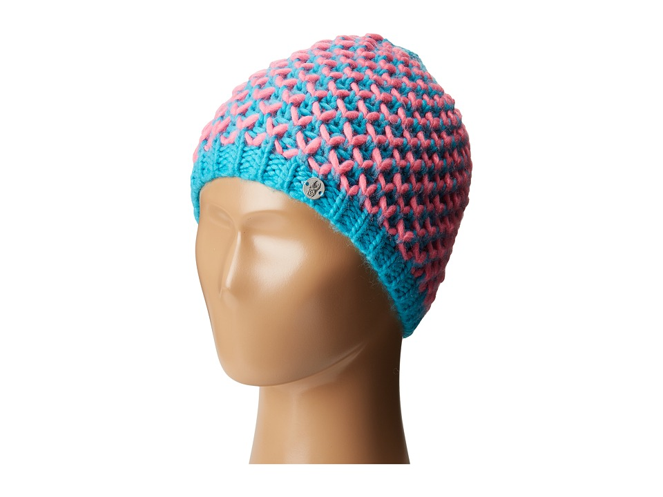 Spyder Kids - Multi Berry Hat (Big Kids) (Bluebird/Bryte Bubblegum) Snow Hats