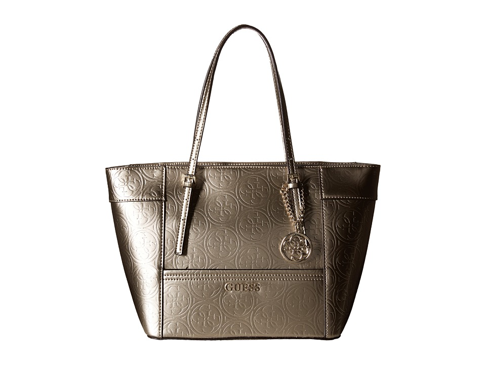 GUESS - Delaney Small Classic Tote (Champagne) Tote Handbags