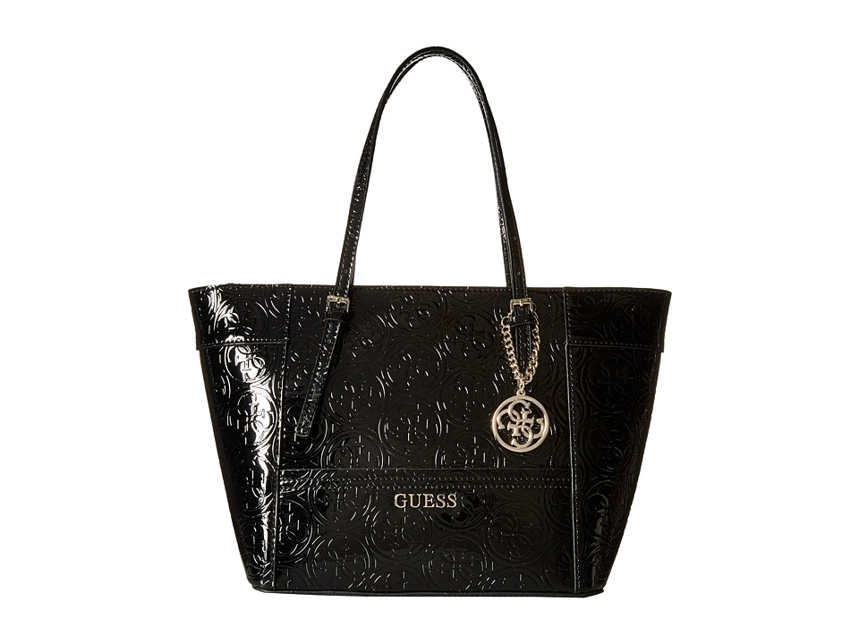 GUESS - Delaney Small Classic Tote (Black) Tote Handbags
