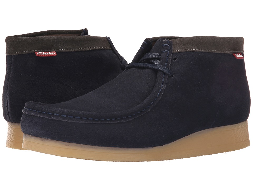 Clarks - Stinson Hi (Blue Suede) Men's Shoes
