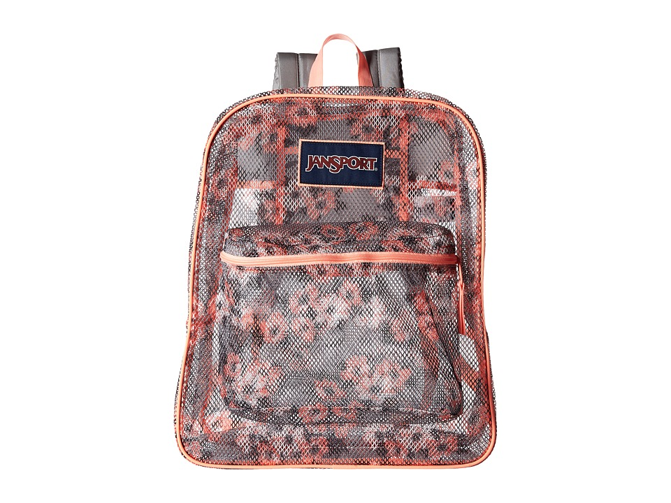 JanSport - Mesh Pack (Coral Sparkle Pretty Posey) Backpack Bags