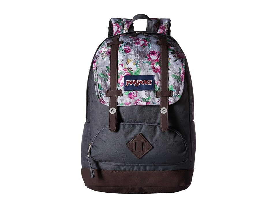 JanSport - Cortlandt Backpack (Multi Concrete Floral) Backpack Bags