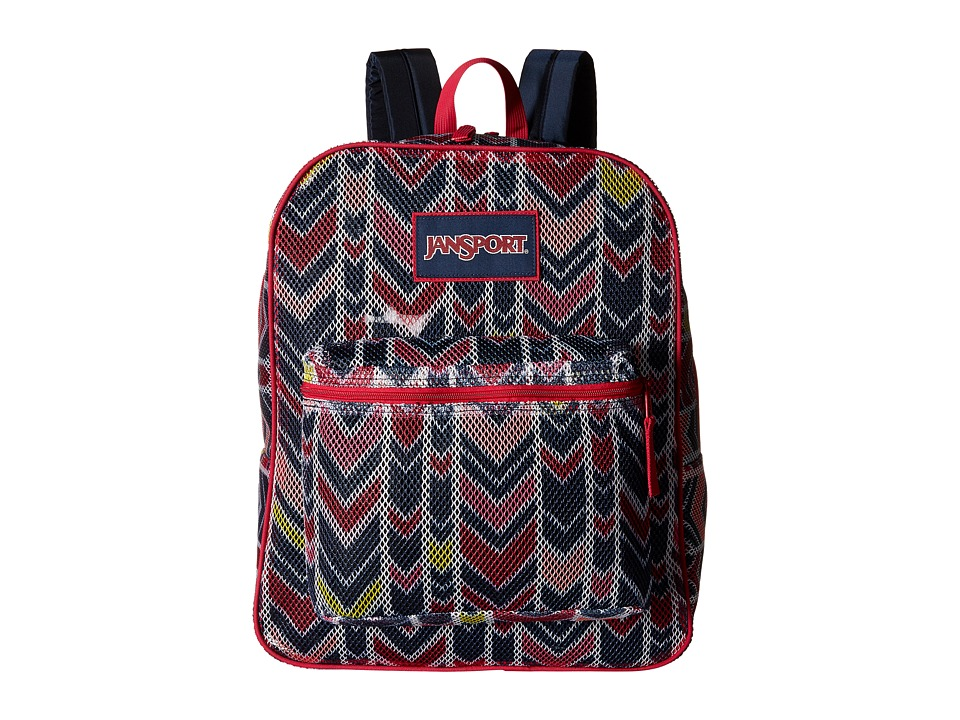 JanSport - Mesh Pack (Navy Watercolor Chevron) Backpack Bags
