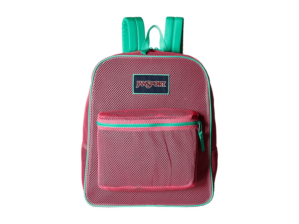 JanSport - Mesh Pack (Fluorescent Pink) Backpack Bags