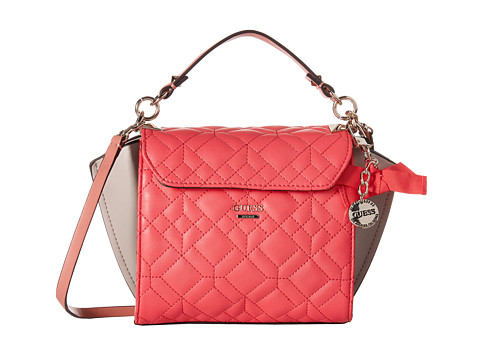 GUESS - Ines Top Handle Flap (Passion Multi) Handbags