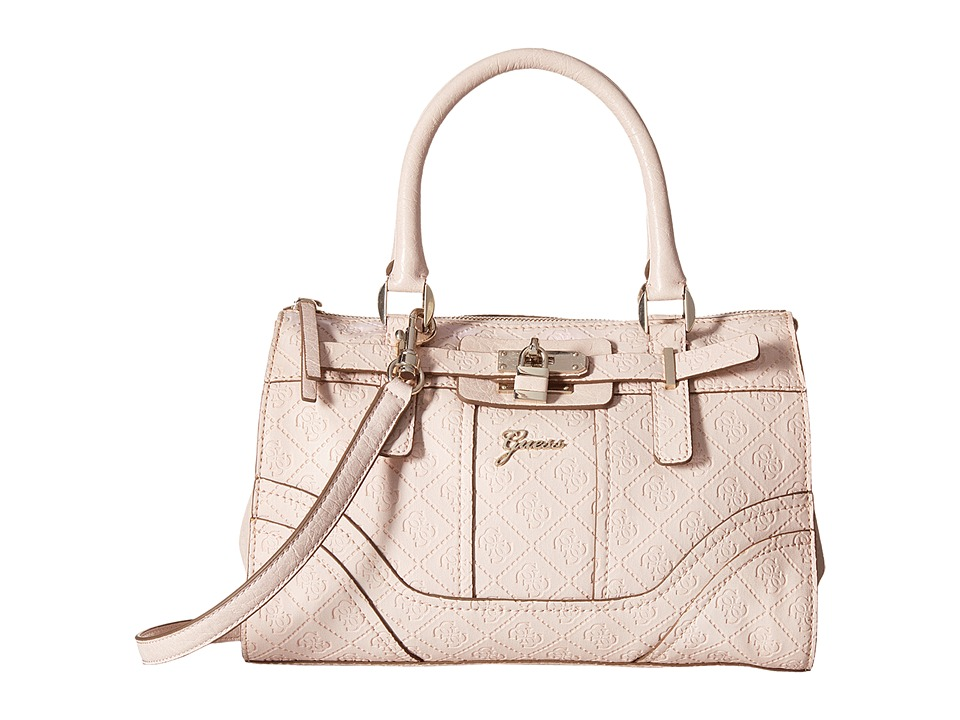 GUESS - La Vida Logo Small Satchel (Light Rose) Satchel Handbags