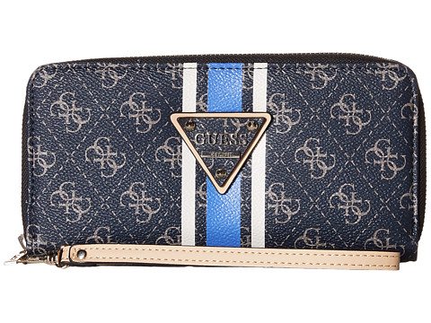 GUESS - Logo Sport SLG Large Zip Around (Midnight) Wallet