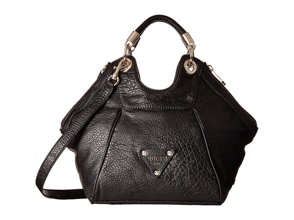GUESS - Off Beat Small Satchel (Black) Satchel Handbags