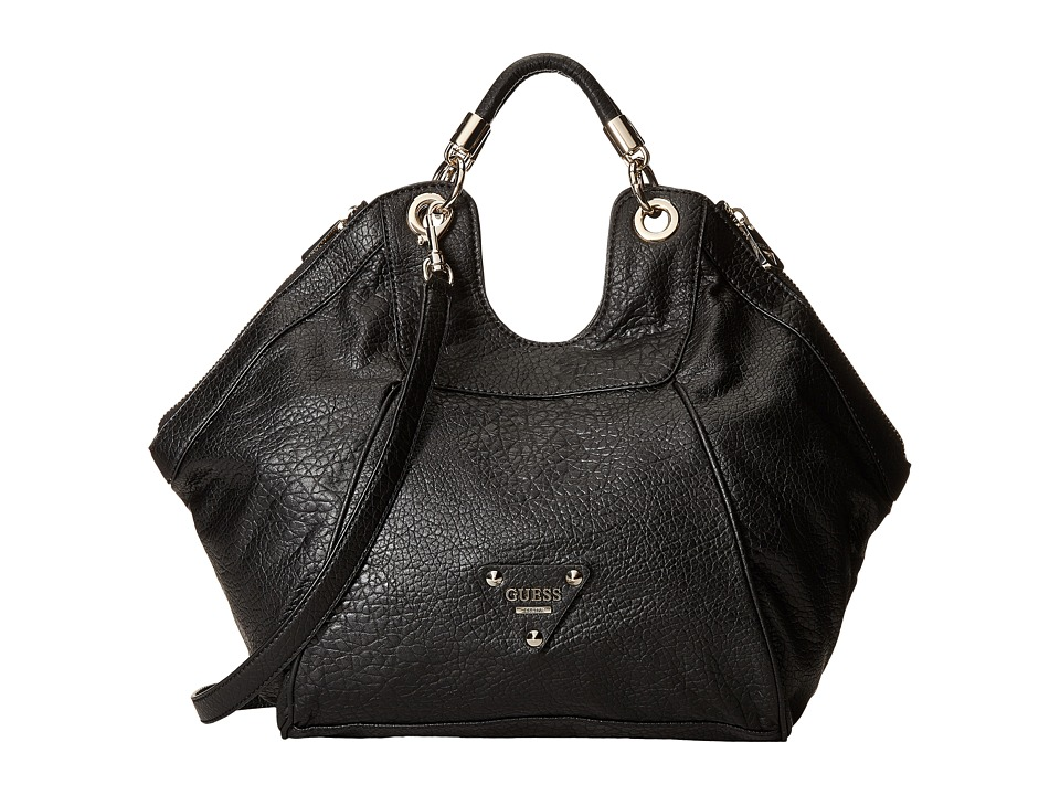 GUESS - Off Beat Large Satchel (Black) Satchel Handbags