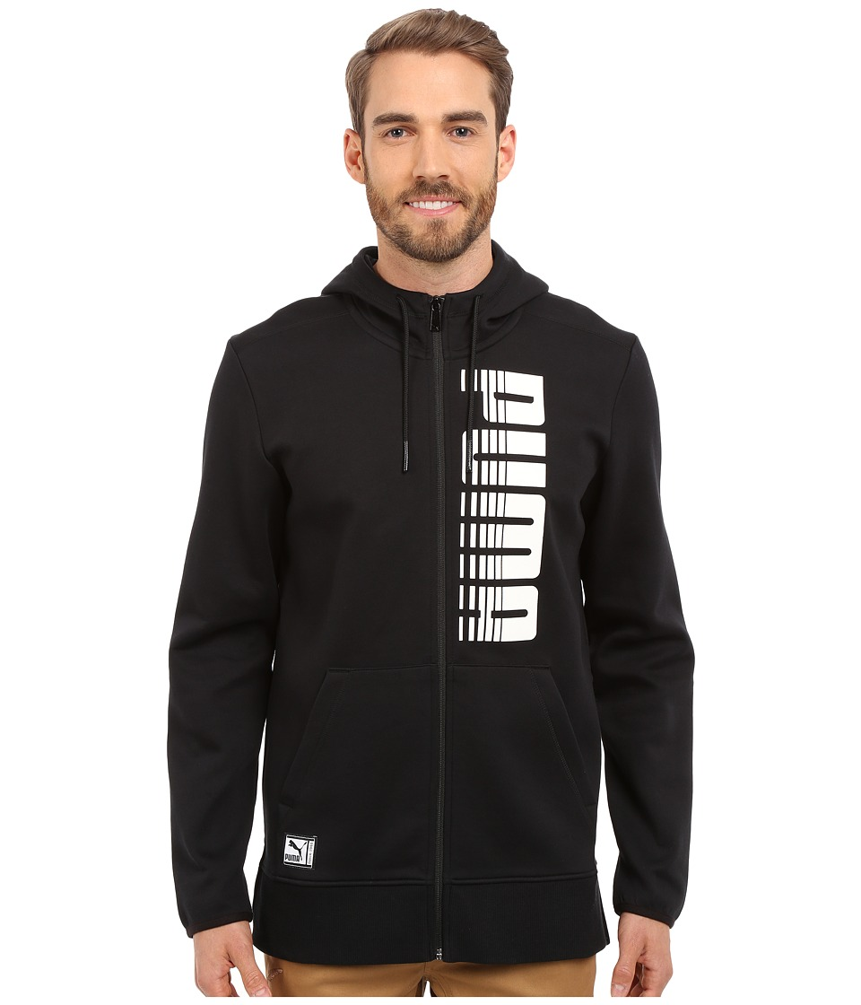 PUMA - FZ Graphic Hoodie (Black) Men's Sweatshirt