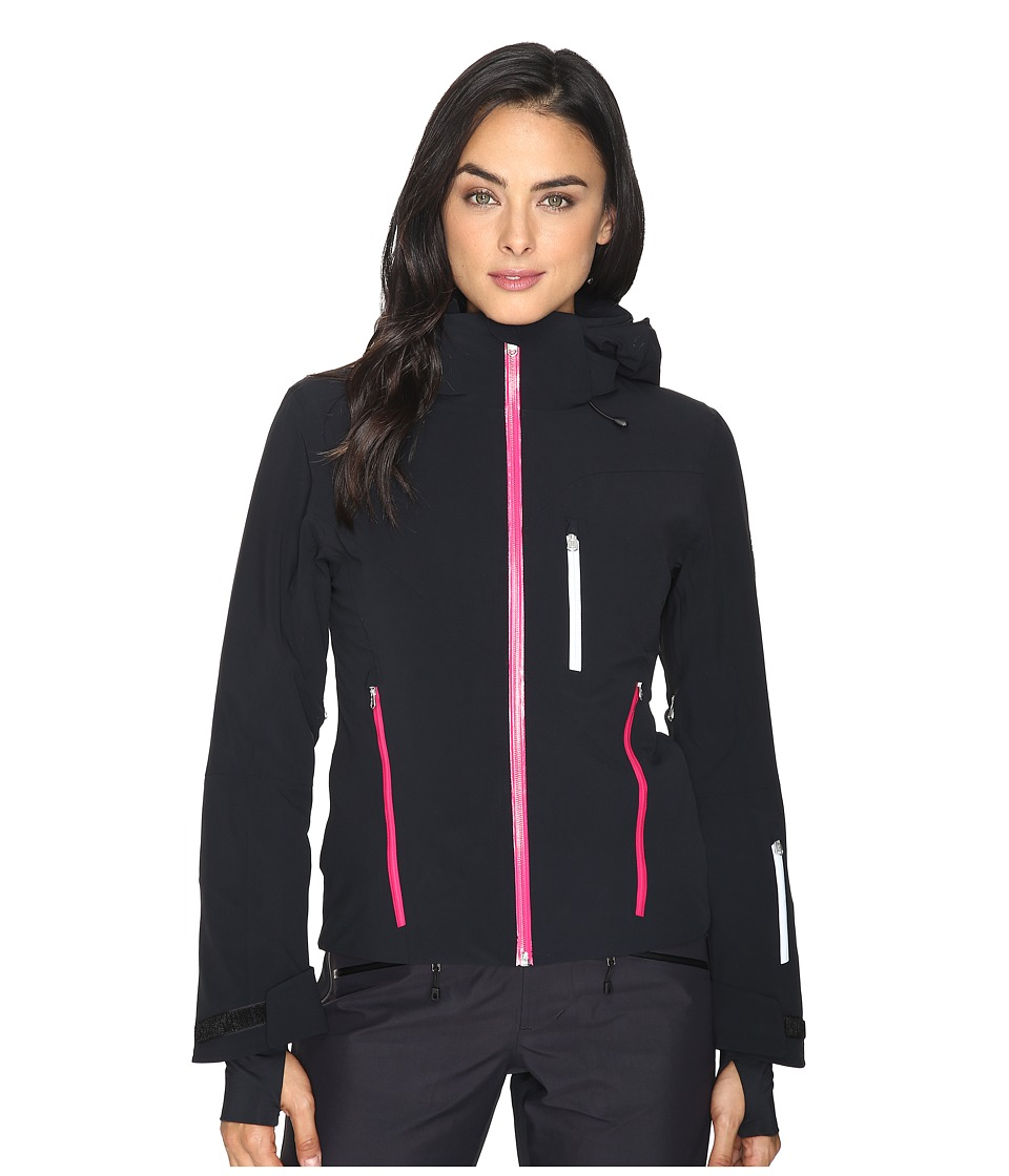 Spyder - Fraction Jacket (Black/Voila/White) Women's Coat