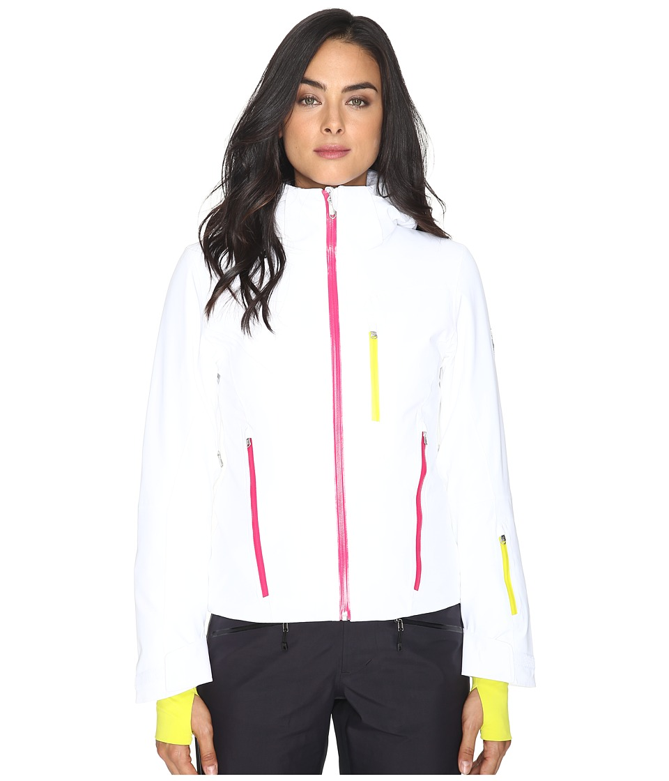 Spyder - Fraction Jacket (White/Voila/Acid) Women's Coat
