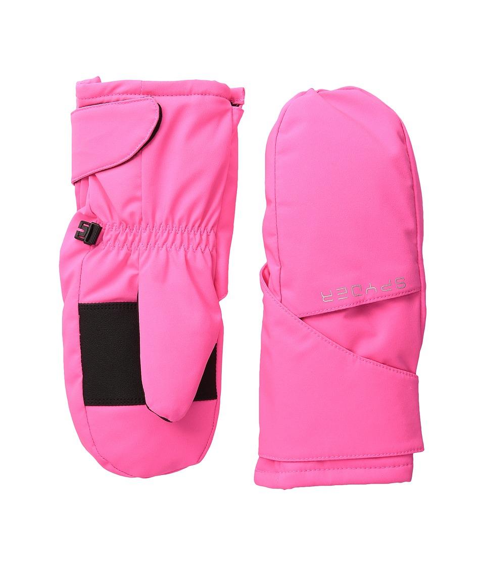 Spyder Kids Bitsy Cubby Ski Mitten (Big Kids) (Bryte Bubblegum/Silver) Ski Gloves