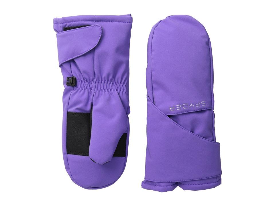 Spyder Kids - Bitsy Cubby Ski Mitten (Big Kids) (Iris/Silver) Ski Gloves