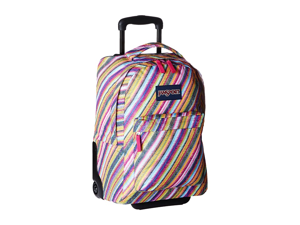 JanSport - Wheeled Superbreak (Multi Texture Stripe) Pullman Luggage